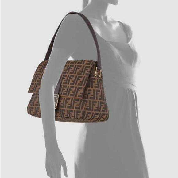 Fendi Handbags - Authentic Fendi Big Mama Zucca Flap Canvas bag 32aa8651343cc